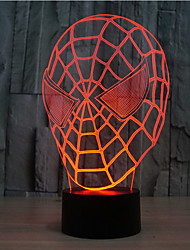 spider-man touch dimming 3d led night light 7colorful decorazione atmosfera lampada novità luce di illuminazione