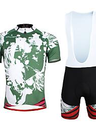 ILPALADINO Maglia con salopette corta da ciclismo Per uomo Unisex Manica corta Bicicletta Set di vestiti Asciugatura rapida Resistente ai