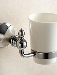 economico -Porta spazzolini / Gadget per il bagno / Lucidatura a specchio / A muro /3.9*3.9*5.9 inch /Ottone / Lega di zinco /Moderno /10CM 10CM