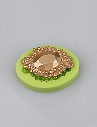 Alta qualidade de jóias de diamante de silicone fondant bolo decorando ferramentas de molde fermento cor aleatória
