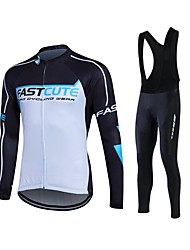 Fastcute Cycling Jersey with Bib Tights Men's Women's Unisex Long Sleeves Bike Pants/Trousers/Overtrousers Tracksuit Fleece Jackets