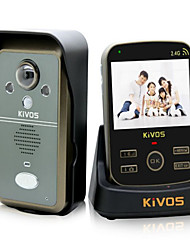 KiVOS KDB302A Wireless Home Video Intercom Doorbell Anti Tamper Alarm Camera Lock