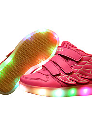 cheap -Girls' Shoes Leatherette Spring Comfort / Light Up Shoes Sneakers Walking Shoes Magic Tape / LED for Red / Blue / Pink