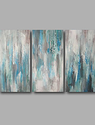 cheap -Stretched (Ready to hang) Hand-Painted Oil Painting 120cmx80cm Canvas Wall Art Modern Blue Grey