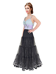 Wedding Special Occasion Daily Slips Polyester Organza Satin Tulle Floor-length A-Line Slip With