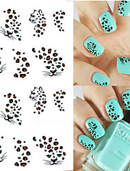 1 sheet Hot Leopard Nail Art Water Transfer Stickers