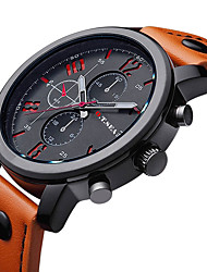 cheap -Men's Quartz Wrist Watch / Casual Watch Leather Band Charm Fashion Black Brown
