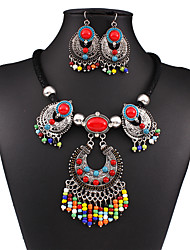 cheap -Women's Cute Jewelry Set Earrings / Necklace - Vintage / Party / Work Rainbow Jewelry Set / Necklace / Earrings For Wedding / Party /