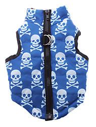 preiswerte -Hund Mäntel Hundekleidung Lässig/Alltäglich Totenkopf Motiv Blau
