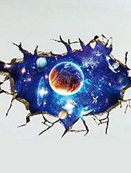 Cool 3D Outer Space Removable Vinyl Art Home Decor Galaxy Wall Sticker Kids Room