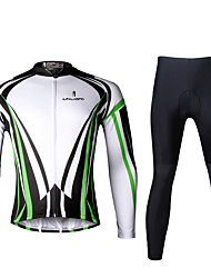 ILPALADINO Cycling Jersey with Tights Men's Long Sleeves Bike Clothing Suits Quick Dry Ultraviolet Resistant Breathable Reflective Strips