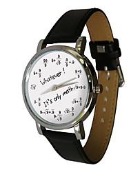 Men's Women's Fashion personality design European style digital formula letter vintage whatever it's only math Word Watch quartz Wrist watch Unisex
