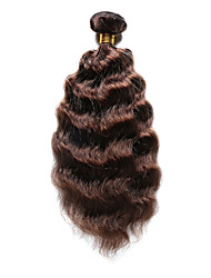 100g/pc Deep Wave 10-20Inch Color #4 Medium Brown Human Hair Weaves