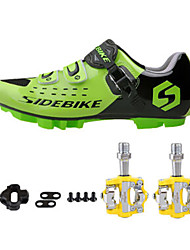 cheap -SD01 Cycling Shoes Unisex Outdoor / Road Bike Sneakers Green / Black-sidebike And Yellow Rock Pedals