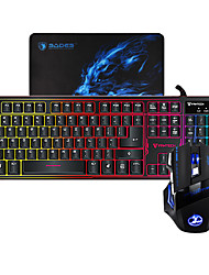 cheap -MIIMALL K9 ABS Colorful LED Illuminated Wired USB Gaming Backlit Keyboard and Mouse Combos