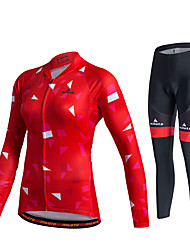 Miloto Cycling Jersey with Tights Women's Unisex Long Sleeves Bike Pants/Trousers/Overtrousers Tracksuit Jersey Tights Tops Clothing Suits