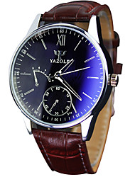 cheap -YAZOLE Men's Quartz Wrist Watch / Hot Sale PU Band Casual Cool Black Brown