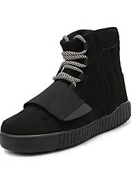Homens sapatos Camurça Inverno Outono Solados com Luzes Botas da Moda Conforto Botas Caminhada Cadarço para Casual Ao ar livre Festas &