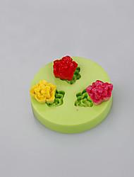 molde de torta de silicona en forma de ballena para flores fondant chocolate molde herramientas de arcilla polimérica color ramdon