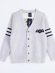 preiswerte -Jungen Pullover & Cardigan-Lässig/Alltäglich einfarbig Baumwolle Herbst Grau