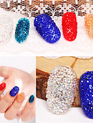 cheap -500pcs Nails DIY Rhinestones Micro Diamond Crystal 3D Nail Art Decoration Tiny Mini Pixie Rhinestone