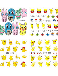 1 Sheet Nail Sticker Water Transfer Decal Cartoon Design Beauty Nail Art Care Sticker Manicure STZ392-404