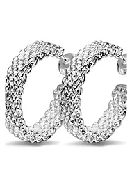 cheap -Women's Hoop Earrings - Sterling Silver Personalized, Cross, Fashion Silver For Wedding Party Daily