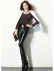 cheap -Women PU LeggingPU black  Fashion, women's pants PU pants,Elastic force