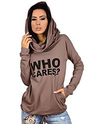 Women's Daily Classic & Timeless Fall Hoodie,Fashion Hooded Long Sleeves N/A Medium