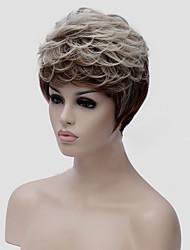 abordables -Pelucas sintéticas Recto / Ondulado Natural Corte a capas Pelo sintético Entradas Naturales Gris Peluca Mujer Corta Sin Tapa