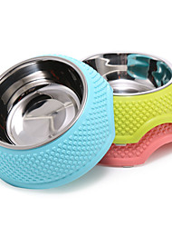 cheap -Cat Dog Bowls & Water Bottles Feeders Pet Bowls & Feeding Portable Foldable Yellow Blue Pink