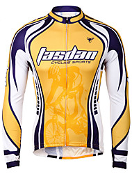 TASDAN Maglia da ciclismo Per uomo Bicicletta Giacca di pelle Asciugatura rapida Traspirante Tasca posteriore 100% poliestere Tinta unita