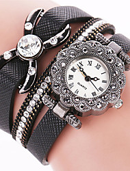 Women's Cool Quartz Fashion Casual Watch PU Belt Butterfly Beautiful Diamond Bracelet Round Dial Watch Unique Watch