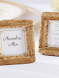 cheap -Gold Feather Square Frame Unique Indian Wedding Decor Wedding Favors