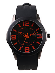 Trend orange digital silicone Men's Watch