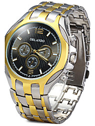 cheap -Men's Quartz Wrist Watch / Hot Sale Alloy Band Casual Dress Watch Fashion Cool Gold