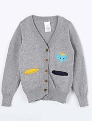 preiswerte -Pullover & Cardigan Alltag Solide Baumwolle Herbst Grau