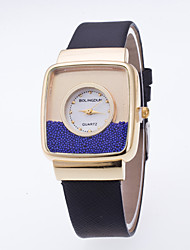 baratos -Mulheres Relógio de Pulso / Relógios Femininos com Cristais Venda imperdível / / PU Banda Casual / Fashion Preta / Branco / Azul