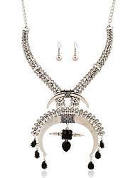 Da donna Collana / orecchini Personalizzato Di tendenza Gioielli di Lusso Pietre sintetiche Argento sterling Strass Diamanti d'imitazione