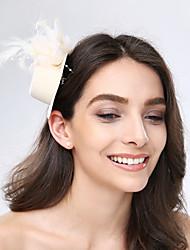 Недорогие -тюль перьевые ткани факсимиляторы головной убор классический женский стиль