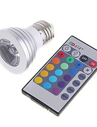 cheap -3W 180 lm E26/E27 LED Smart Bulbs MR16 1 leds High Power LED Dimmable Remote-Controlled RGB AC 85-265V