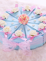 cheap -Cylinder Card Paper Favor Holder with Bowknot / Lace / Ribbons Favor Boxes