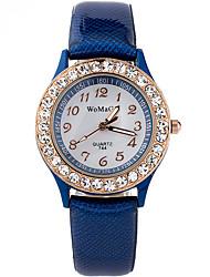 baratos -Mulheres Relógio de Pulso Com Strass / Legal / imitação de diamante PU Banda Casual / Fashion Preta / Branco / Azul / Um ano / SSUO LR626