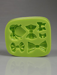 Silicone chocolate mold different bowknot shape fondant cake mold girl birthday cakes image Color Random