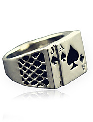 cheap -Men's Fashion Alloy Ring Vintage Playing Card Personality Statement Rings Casual/Daily 1pc Christmas Gifts