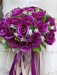 abordables -Fleurs de mariage Bouquets Mariage Fête / Soirée Satin 25cm