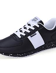 Femme-Décontracté-Noir Bleu Noir et blanc-Talon Plat-Confort-Chaussures d'Athlétisme-Polyuréthane
