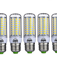 cheap -5pcs E27 LED Corn Lights 72leds SMD5730 980lm Warm/Cold White Decorative AC220-240V