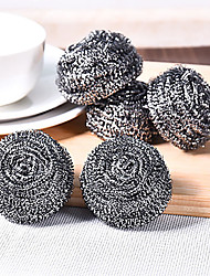 cheap -Set Of 4 Steel Wool Steel Wire Ball  Fighting Kitchen Stubborn Stains