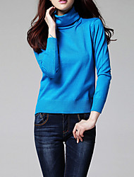 cheap -Women's Vintage Work Pullover - Solid Colored